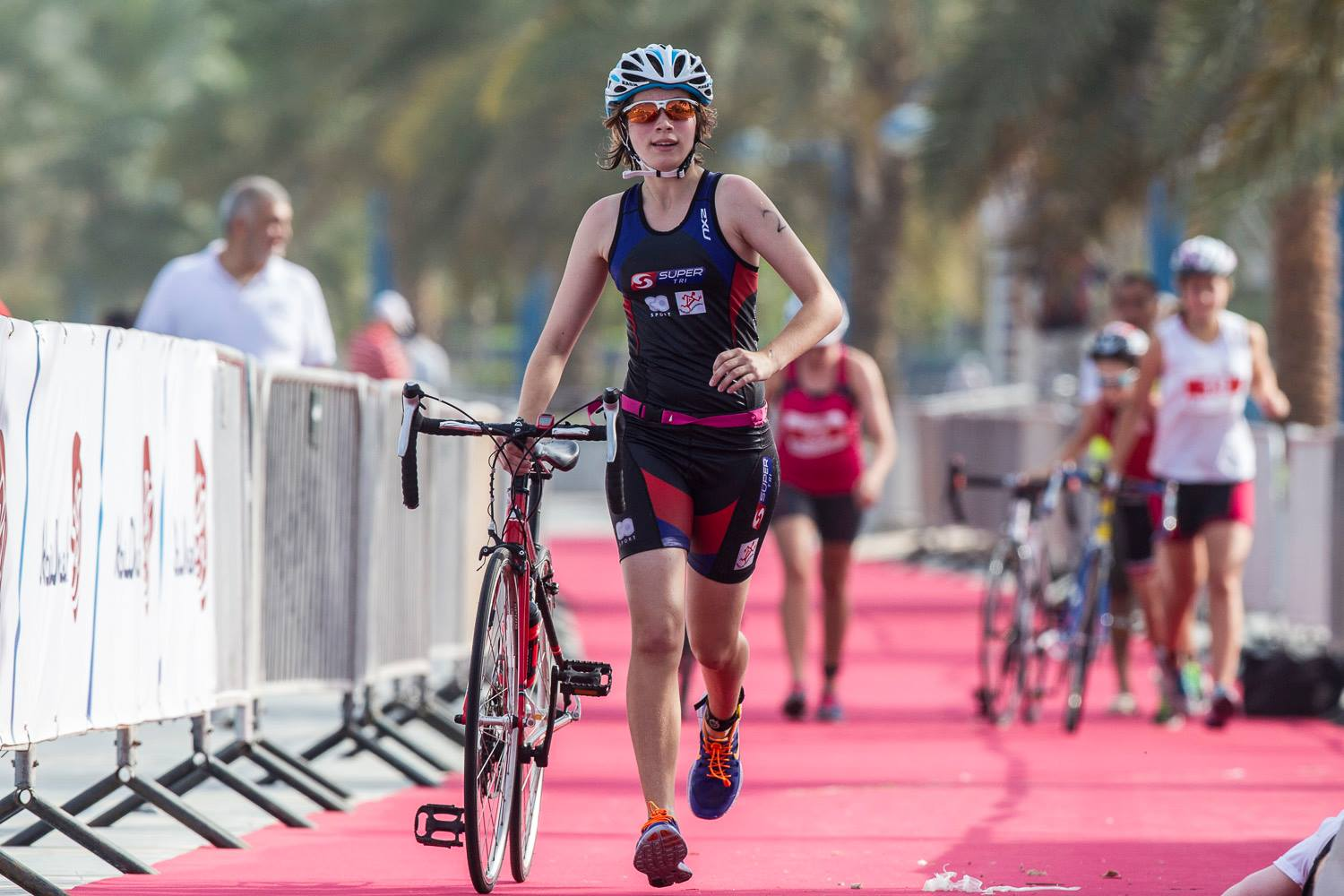 Abu Dhabi Triathlon: on the Corniche today to race the largest junior triathlon in Arabia.