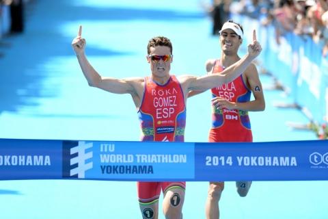 Spain's Javier Gomez outsprints Mario Mola to Yokohama title