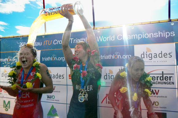 RUZAFA, MUELLER WIN XTERRA GERMANY / ITU CROSS TRI WORLDS