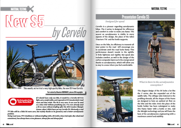 New S5 by Cervelo… to read in TrimaX#137