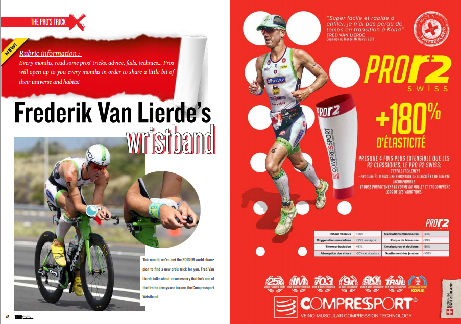 Frederik Van Lierde's wristband wristband … to read in TrimaX#138