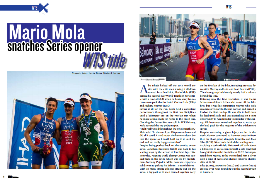 To read in TrimaX#139 : Mario Mola snatches Series opener WTS title