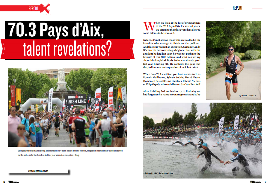 70.3 Pays d'Aix, talent revelations ? to read in TrimaX#140