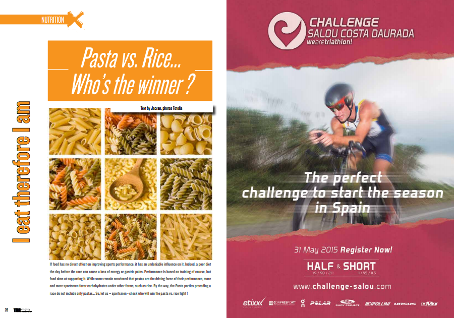 To read in TrimaX#140: Pasta vs. Rice… Who's the winner ?