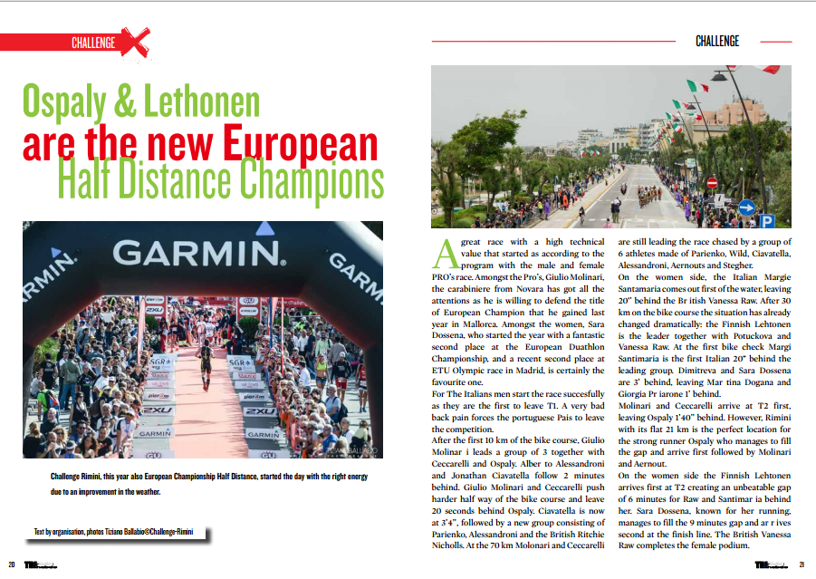 Ospaly & Lethonen are the new European Half Distance Champions… to read in TrimaX#141