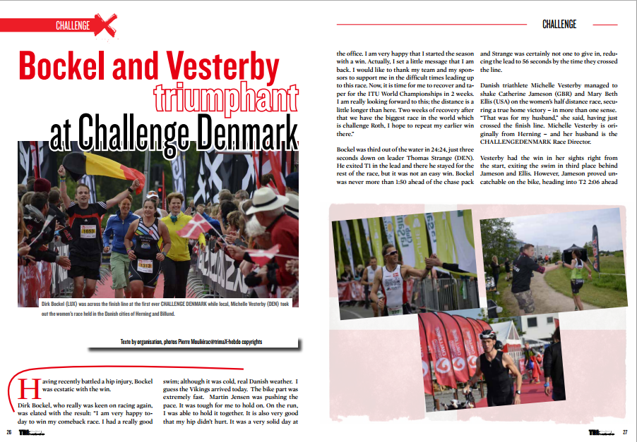 Bockel and Vesterby triumphant at Challenge Denmark to read in TrimaX#142