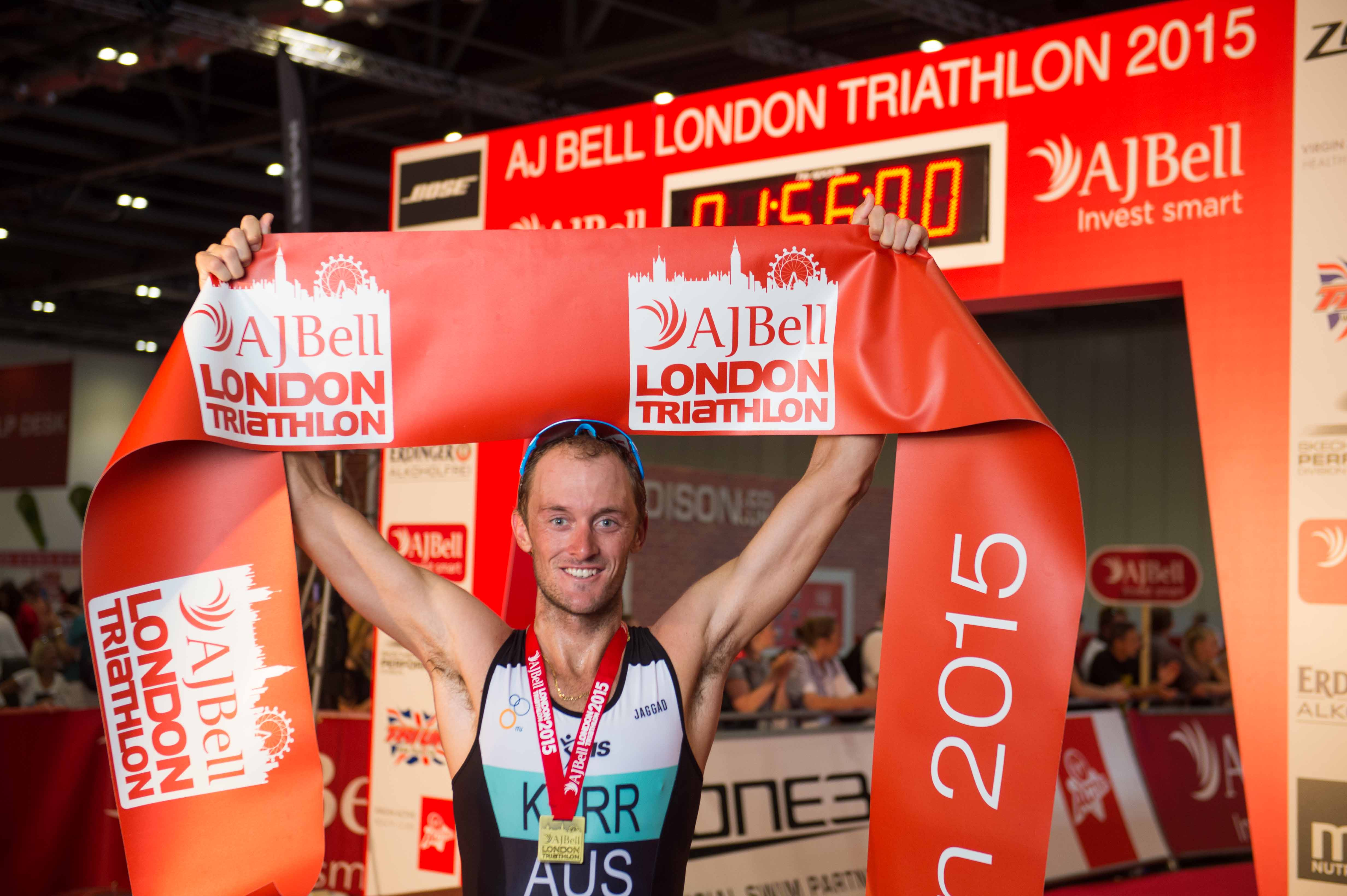 HELEN JENKINS & PETER KERR STORM TO VICTORY AT THE AJ BELL LONDON TRIATHLON