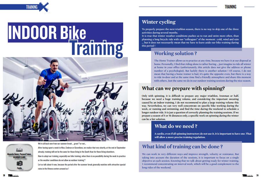 INDOOR Bike Training to read in TrimaX#144
