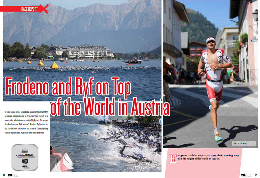 Frodeno and Ryf on Top of the World in Austria to read in TrimaX#145
