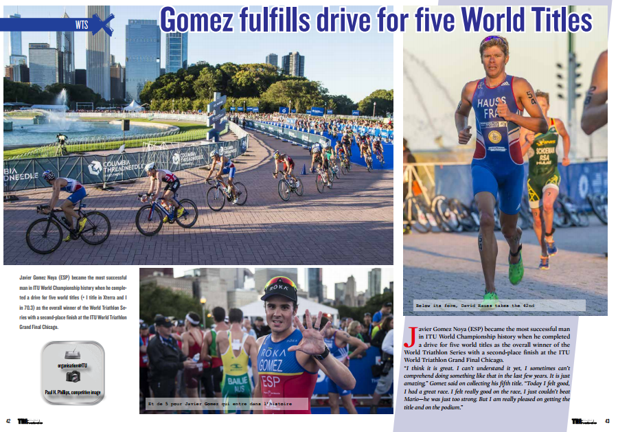Gomez fulfills drive for five World Titles to read in TrimaX#145