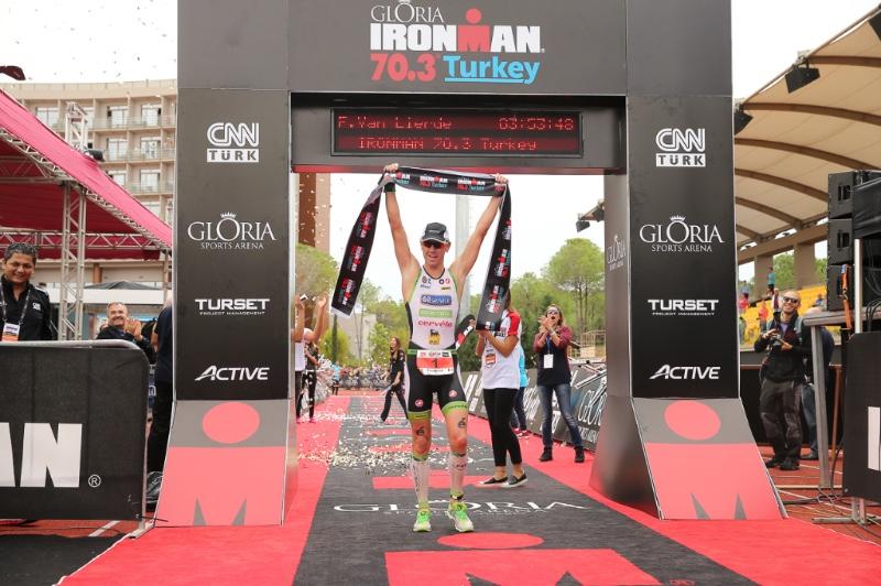 Tondeur and Van Lierde win first Gloria IRONMAN 70.3 Turkey