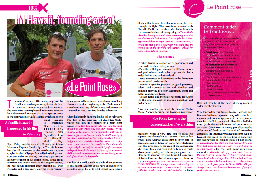 IM Hawaii, founding act of «Le Point Rose» to read in TrimaX#146
