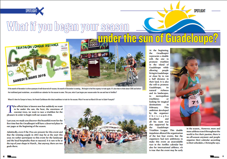 What if you began your season under the sun of Guadeloupe? to read in TrimaX#147