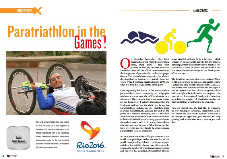 Paratriathlon in the Games ! to read in TrimaX#148