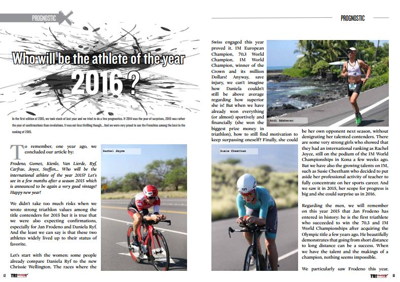 Who will be the athlete of the year 2016 ?  to read in TrimaX#148