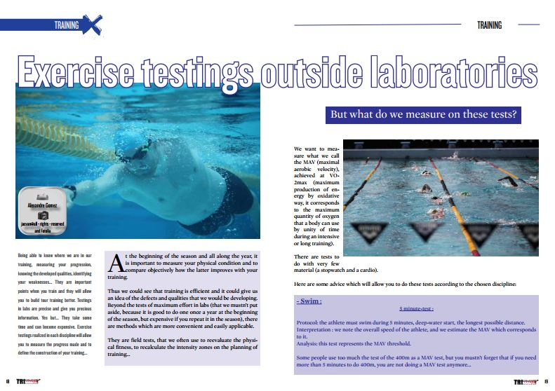 Exercise testings outside laboratories to read in TrimaX#148