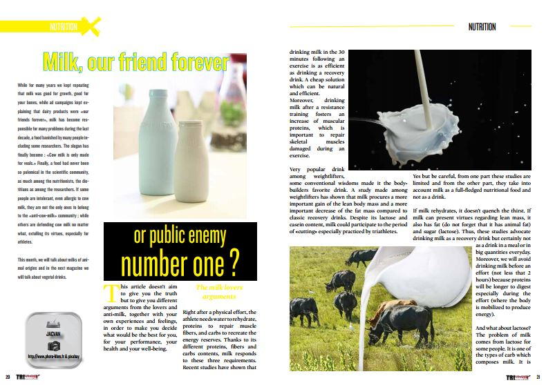 Milk, our friend forever or public enemy number one ? to read in TrimaX#149