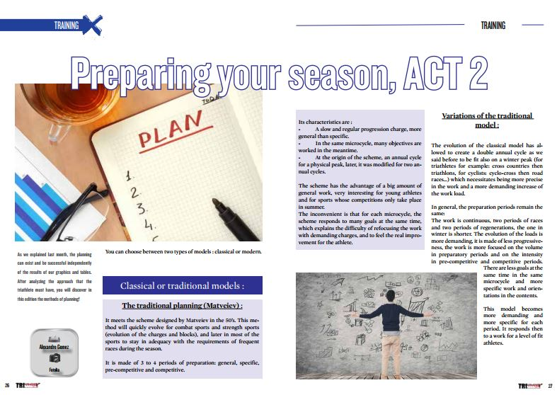 Preparing your season, ACT 2 to read in TrimaX#150