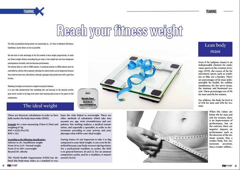 Reach your fitness weight to read in TrimaX#151