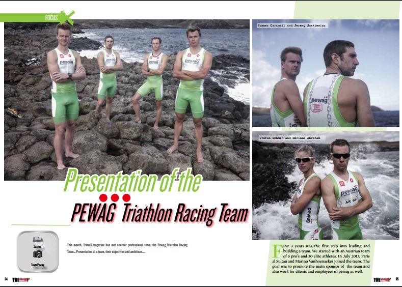 Presentation of the PEWAG Triathlon Racing Team to read in TrimaX#151