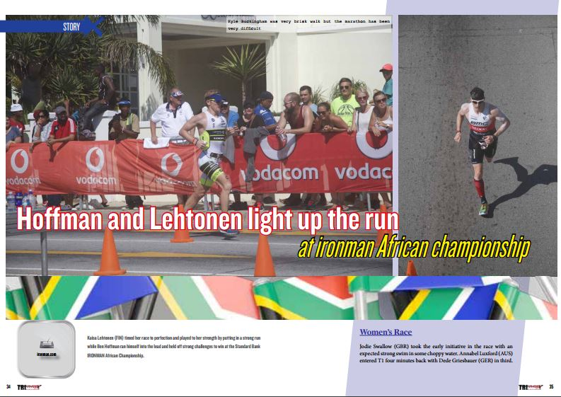 Hoffman and Lehtonen light up the run at ironman African championship to read in TrimaX#152
