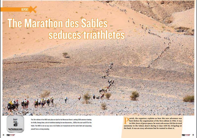 The Marathon des Sables seduces triathletes to read in TrimaX#152