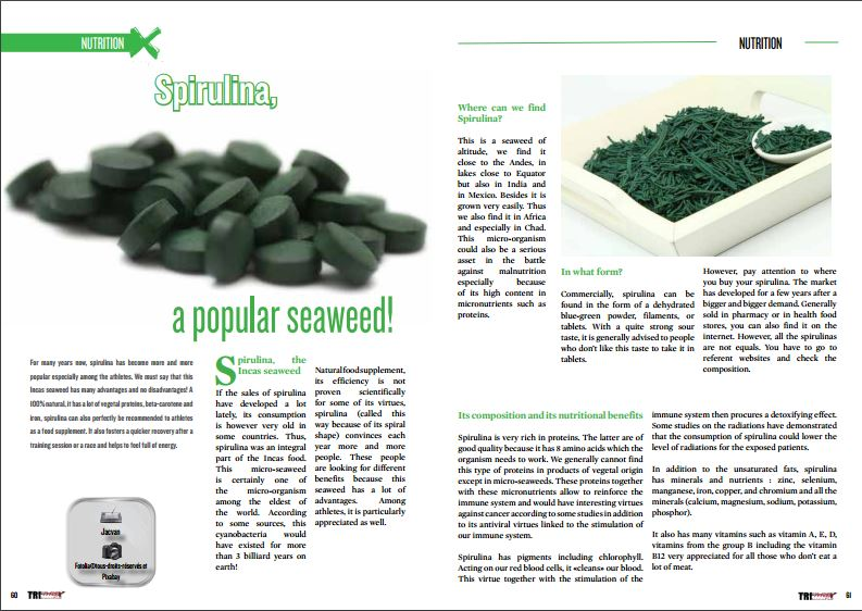 Spirulina, a popular seaweed ! to read in TrimaX#152