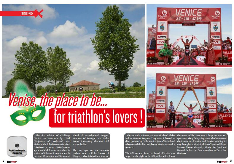 Venise, the place to be… for triathlon's lovers ! to read in TrimaX#154
