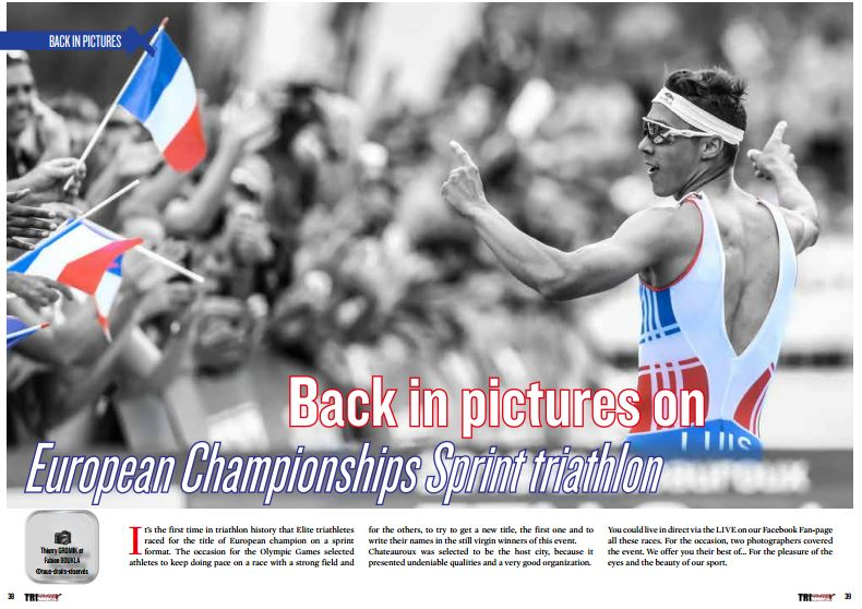 Back in pictures on European Championships Sprint triathlon to read in TrimaX#154