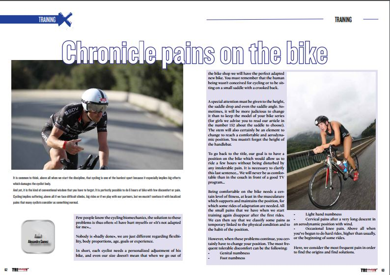 Chronicle pains on the bike to read in TrimaX#154