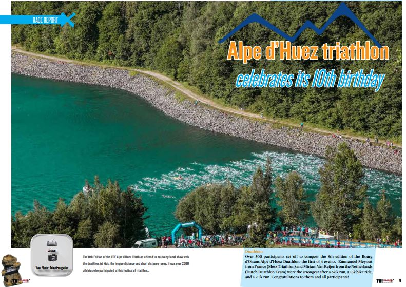 Alpe d'Huez triathlon celebrates its 10th birthday to read in TrimaX#155