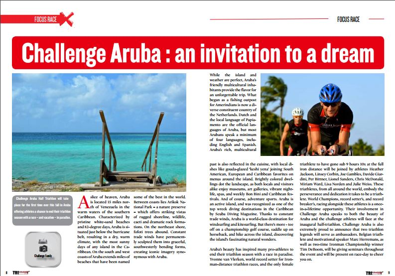 Challenge Aruba : an invitation to a dream to read in TrimaX#155