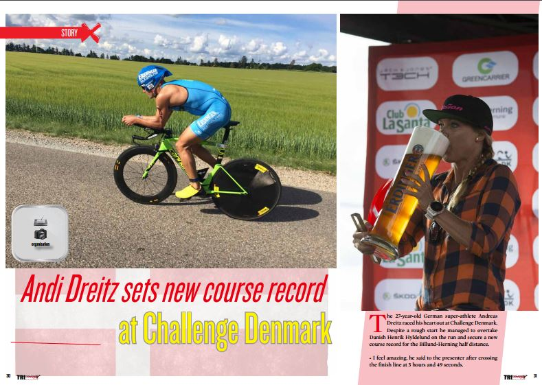Andi Dreitz sets new course record at Challenge Denmark to read in TrimaX#155
