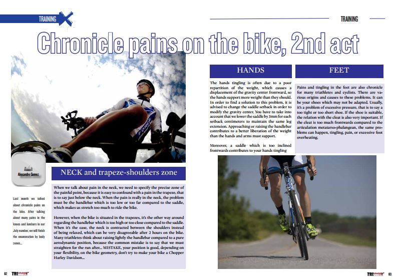 Chronicle pains on the bike, 2nd act to read in TrimaX#155