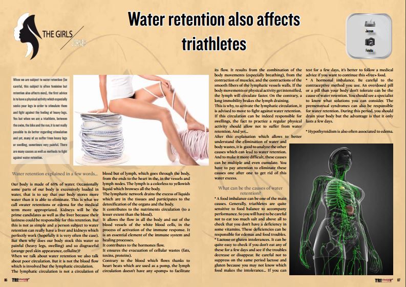 Water retention also affects triathletes to read in TrimaX#155