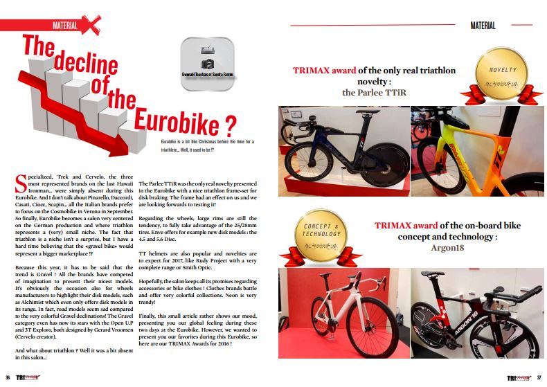 The decline of the Eurobike ? to read in TrimaX#157