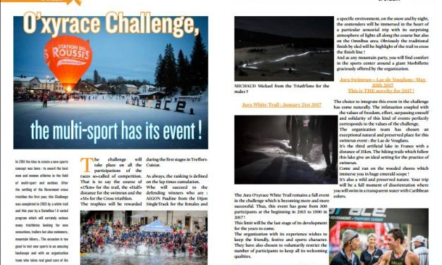 O'xyrace Challenge, the multi-sport has its event ! to read in TrimaX#159