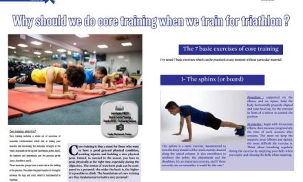 Why should we do core training when we train for triathlon ? to read in TrimaX#160
