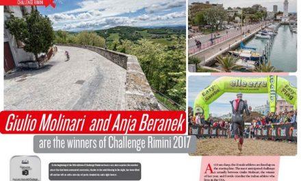 Giulio Molinari and Anja Beranek are the winners of Challenge Rimini 2017 to read in TrimaX#164