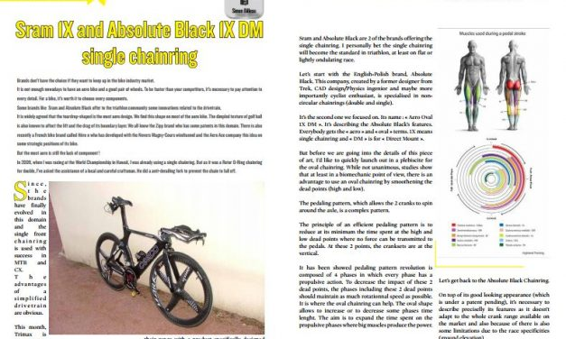 Sram 1X and Absolute Black 1X DM single chainring to read in TrimaX#166