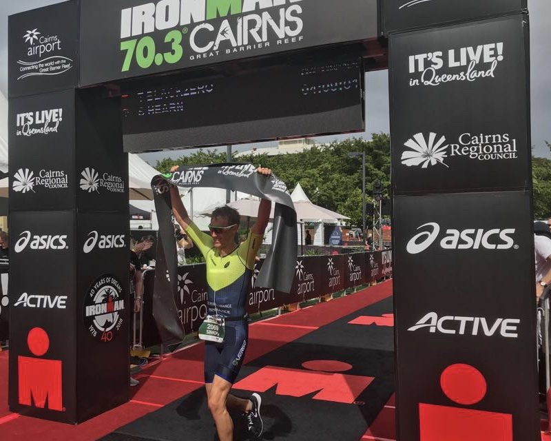 IRONMAN 70.3 FLYERS FIRST INTO CAIRNS