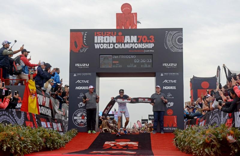 JAN FRODENO OUTSHINES A WORLD CLASS FIELD OF OLYMPIANS AND WORLD CHAMPIONS; CLAIMS 2018 ISUZU IRONMAN 70.3 WORLD CHAMPIONSHIP TITLE