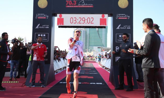 BLUMMENFELT SETS NEW IRONMAN® 70.3® WORLD BEST TIME AS HE DEFENDS HIS MIDDLE EAST CHAMPIONSHIP TITLE IN BAHRAIN