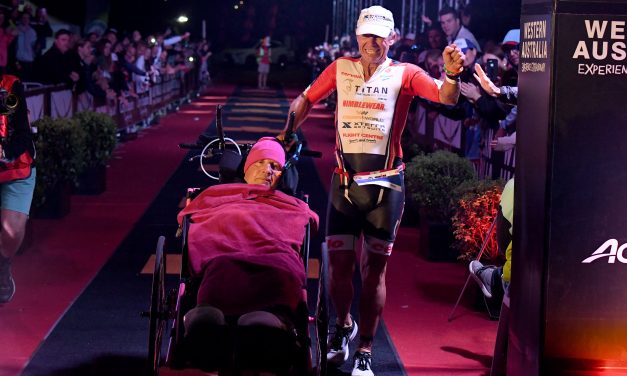 EMOTIONAL KEVIN AND SID  BIG WINNERS AT IRONMAN WESTERN AUSTRALIA